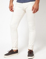 ASOS - Jeans super skinny di colore bianco