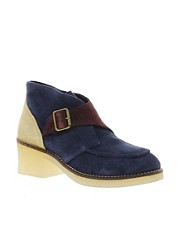 Swear Chiara 7 Navy Buckle Ankle Boots