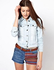 Vero Moda Bleached Denim Western Jacket