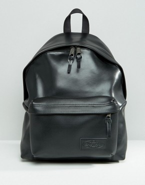 Eastpak Leather Perforated Pocket Backpack