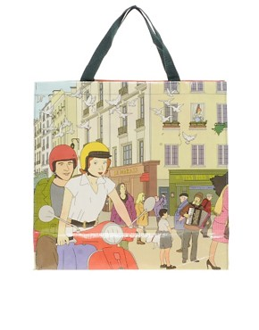 Image 1 ofBlue Q I Heart Paris Shopper