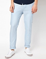 Chinos de corte slim de cambray de ASOS