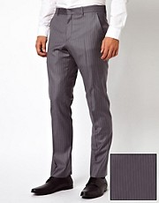 ASOS Slim Fit Suit Trousers in 100% Wool Pinstripe