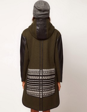 Image 2 ofASOS Limited Edition Jaquard Panelled Parka