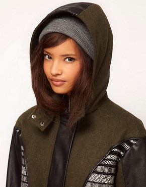 Image 3 ofASOS Limited Edition Jaquard Panelled Parka