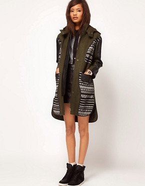 Image 4 ofASOS Limited Edition Jaquard Panelled Parka