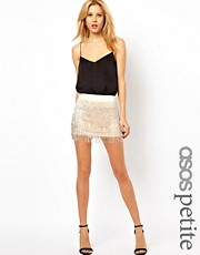 ASOS PETITE Exclusive Embellished Fringed Skirt