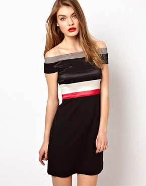 Image 1 ofMarkus Lupfer Elastic Bandeau Dress