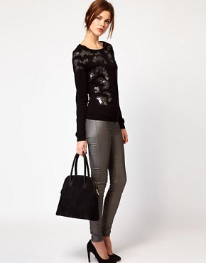 Image 4 of Warehouse Animal Print Embellished Sweater