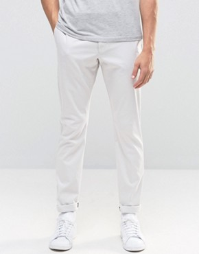 Reiss Slim Trousers In Twill