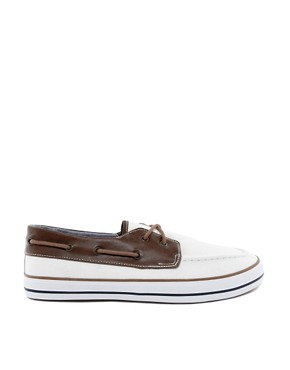 Image 4 ofASOS Boat Shoes in Herringbone Canvas
