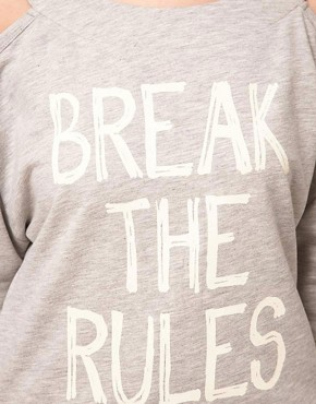 Image 3 of ASOS PETITE Exclusive Break The Rules Sweat