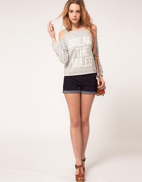 Image 4 of ASOS PETITE Exclusive Break The Rules Sweat
