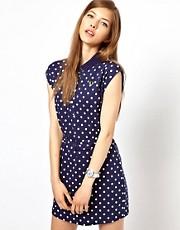 Fred Perry Cap Sleeve Polka Dot Dress