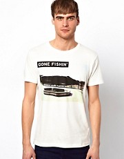 Jack &amp; Jones T-Shirt with Gone Fishing Print