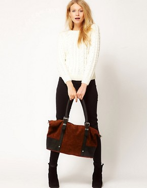 Image 3 ofASOS Leather Metal Keeper Tote