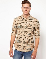 ASOS Shirt With Mountain Print