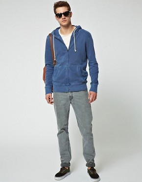 Bild 4 von Jack & Jones  Gewaschener Kapuzenpullover mit Reiverschluss