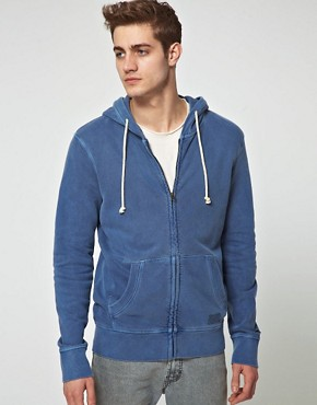 Bild 1 von Jack & Jones  Gewaschener Kapuzenpullover mit Reiverschluss