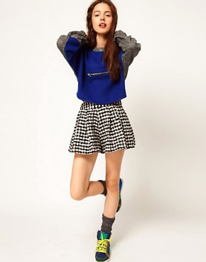 Image 1 ofASOS Africa Pleated Check Shorts