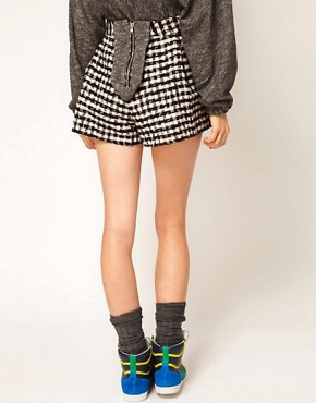 Image 2 ofASOS Africa Pleated Check Shorts