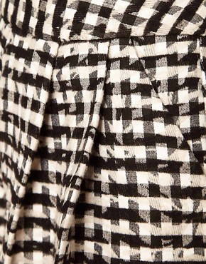 Image 3 ofASOS Africa Pleated Check Shorts