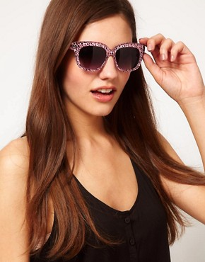 Image 3 ofAJ Morgan Charmer Cheetah Sunglasses