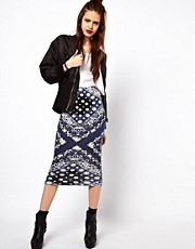 ASOS Pencil Skirt in Bandana Print