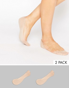 ASOS 2 Pack Invisible Socks