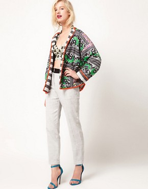 Image 4 ofASOS AFRICA Oversize Jacket In Reversible Print