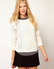 Vanessa Bruno Ath Angora Cable Knit Jumper