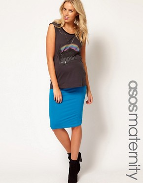 Image 1 ofASOS Maternity Jersey Pencil Skirt
