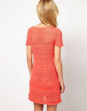 Image 2 ofASOS Premium Crochet shift Dress