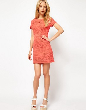 Image 4 ofASOS Premium Crochet shift Dress