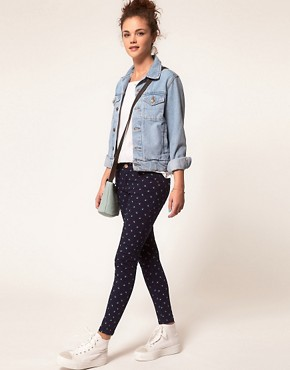 Image 4 ofA Wear Printed Skinny Crop Jean