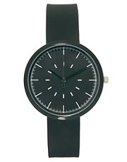 River Island - Orologio minimal nero