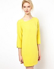 BA&amp;SH Shift Dress with Curved Hem Detail