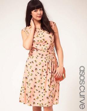 Image 1 ofASOS CURVE Exclusive Dress In Pretty Floral