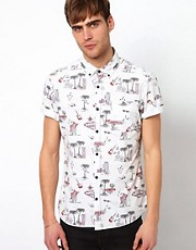 River Island Vegas Print Shirt