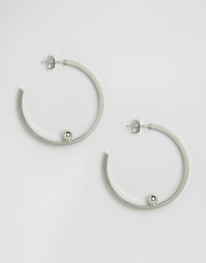 Pieces Silver Galina Creol Hoop Earrings