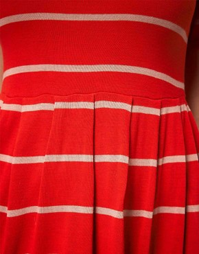 Image 3 of ASOS CURVE Knitted Dress In Stripe