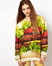Mr. Gugu &amp; Miss Go Hamburger Sweatshirt