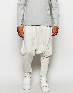 ASOS Extreme Drop Crotch Joggers In Super Lightweight Fabric