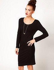 April May Asymmetric Jersey Dress