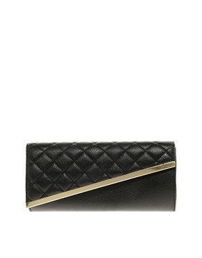 Image 1 ofASOS Quilted Diagonal Clutch Bag
