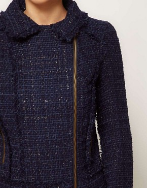 Image 3 ofA Wear Tweed Biker Jacket