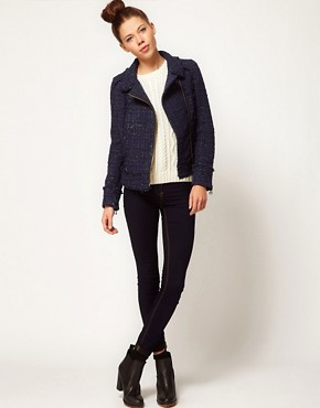 Image 4 ofA Wear Tweed Biker Jacket