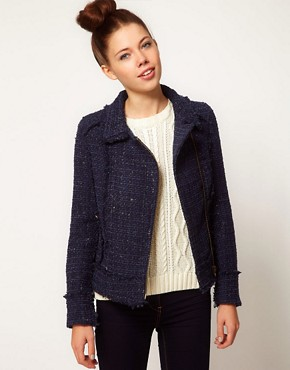 Image 1 ofA Wear Tweed Biker Jacket