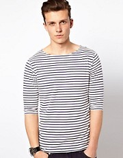 Gant Rugger T-Shirt with Breton Stripe