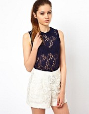 A Wear Lace Swing Top